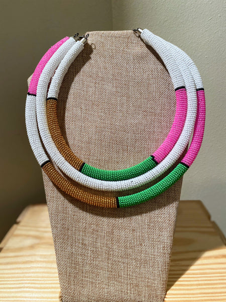 Trio Cord Bead Necklace