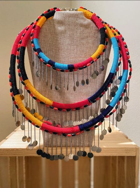Yeyoo Maasai Necklace Set - Zai & Ami Designs