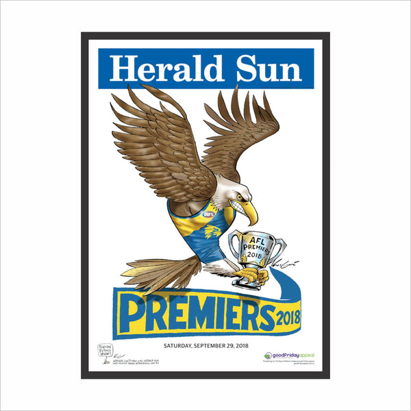 Mark Knight Premiership Poster Frames - Picture Framer Perth