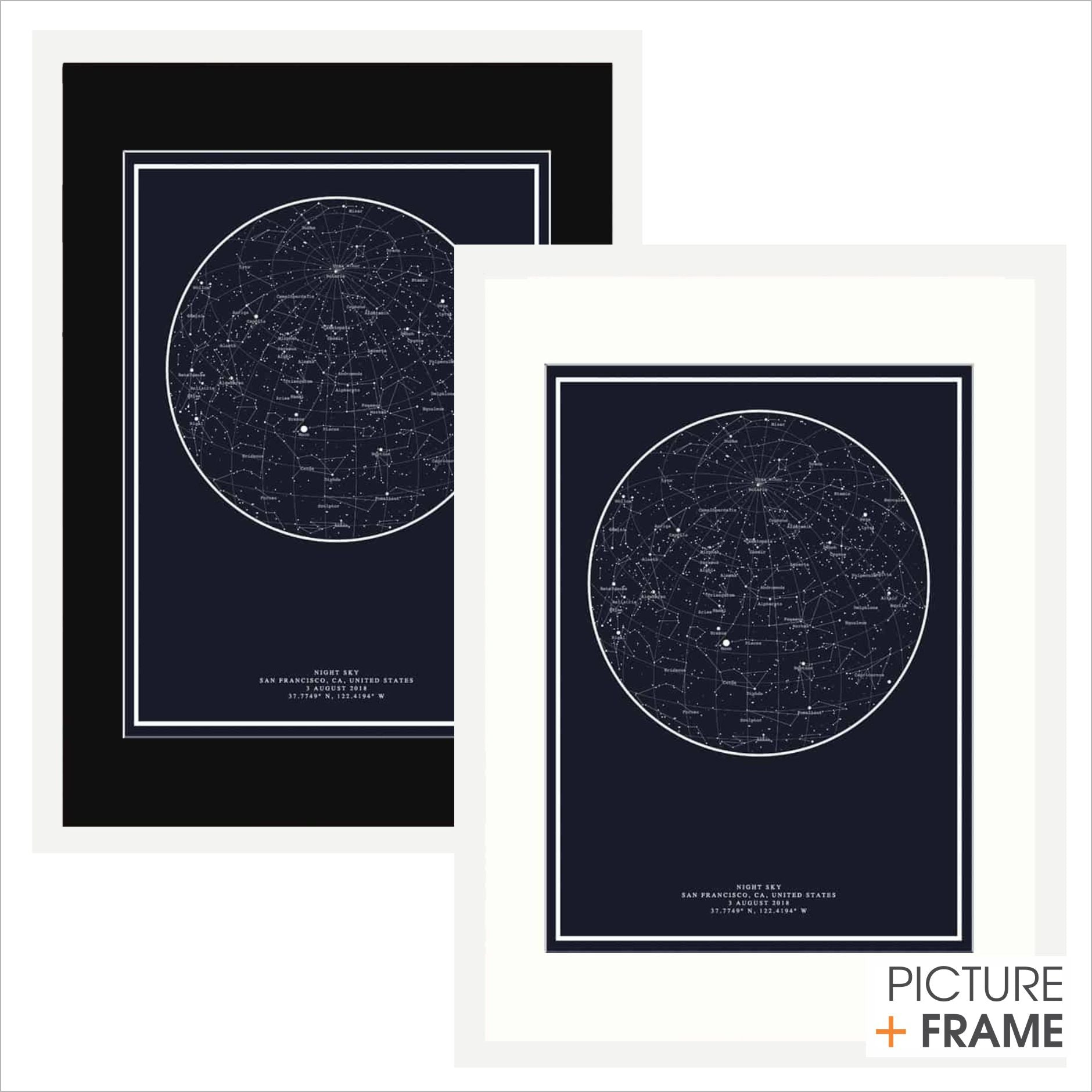 Starrymaps - Picture Frame - Picture Framer Perth