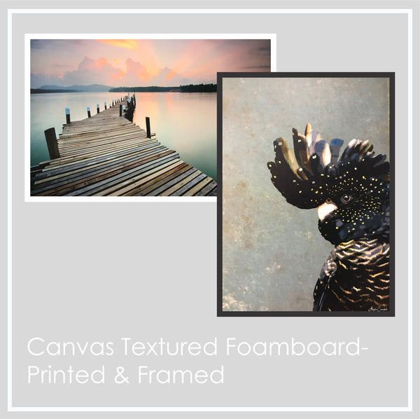 Print & Frame Canvas Textured Foamboard - Picture Framer Perth