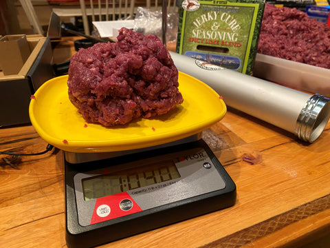 Use a scale to accurately measure the amount of meat you need.