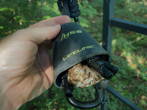 Watch out for wasp nest that may build up in your Lifeline Cowbell carabiner cover.