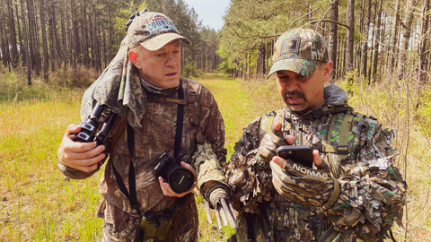 With the turkeys playing hardball, it was time to regroup, check our maps, and make plan for the rest of the day.