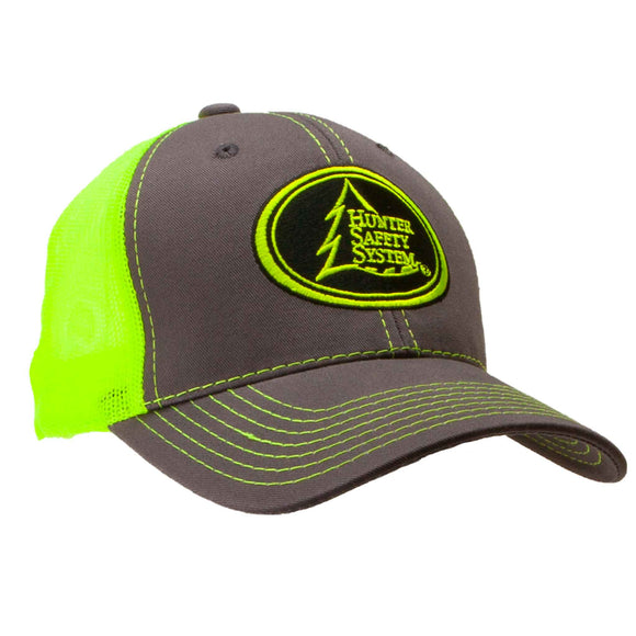 HSS CHARCOAL/NEON YELLOW HAT