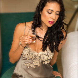 luxury silk camisole loungewear and lingerie silk pyjamas
