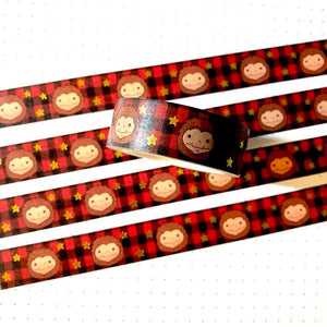 Biggie Sass Buffalo Plaid Gold Foil Washi Tape