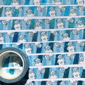 Ygritte the Yeti Blue Foil Washi Tape