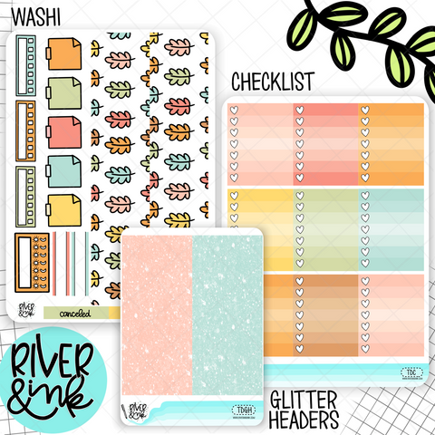 Turkey Day Thanksgiving Add On | Weekly Vertical Planner Stickers Kit Add Ons