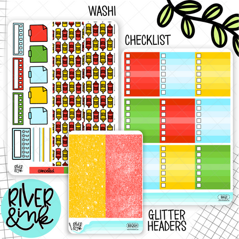 Backyard BBQ | Weekly Vertical Planner Stickers Kit Add Ons