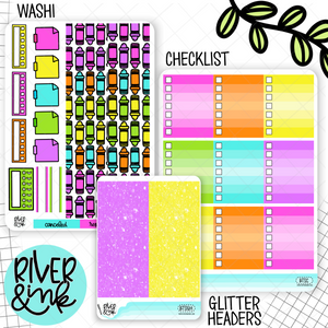 Back To School | Weekly Vertical Planner Stickers Kit Add Ons