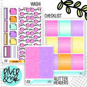Birthday Bash Pink | Weekly Vertical Planner Stickers Kit Add Ons