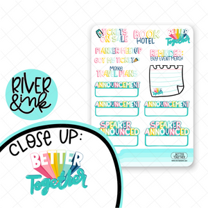 West Coast Planners Better Together Pre-Event | Hand Lettered Planner Stickers