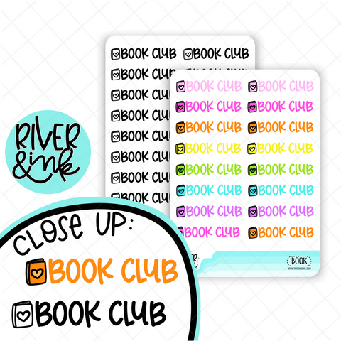 Book Club | Hand Lettered Planner Stickers