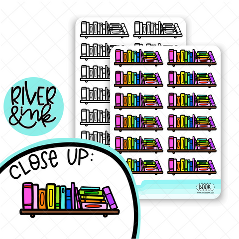 Book Shelf Divider | Hand Drawn Planner Stickers