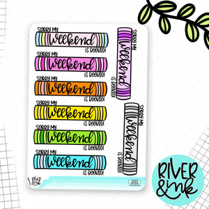 Sorry I'm Booked Weekend Banner | Planner Stickers