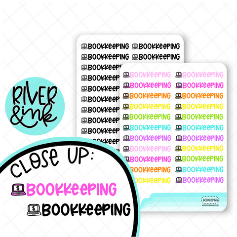 Bookkeeping | Hand Lettered Planner Stickers