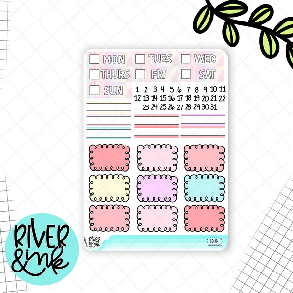 Carousel Dreams Weekly Vertical Sticker Kit | Hand Drawn Planner Stickers