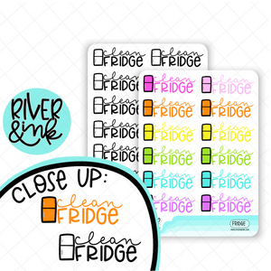 Clean Fridge | Hand Lettered Planner Stickers