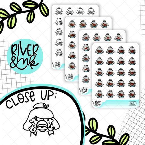 Wahhh Crying Planner Characters | Hand Drawn Planner Stickers