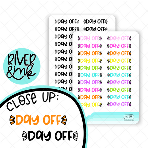 Day Off | Hand Lettered Planner Stickers