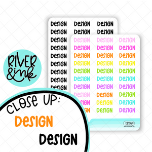 Design | Hand Lettered Planner Stickers