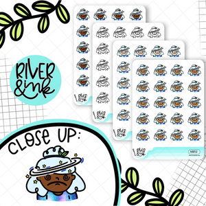 Dizzy Headache Planner Characters | Hand Drawn Planner Stickers