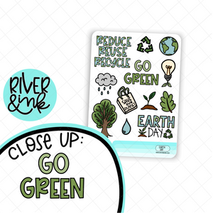 Earth Day Art | Hand Drawn Planner Stickers
