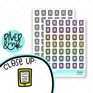 E-Reader Icon | Hand Drawn Planner Stickers