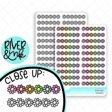 Flower Divider| Hand Drawn Planner Stickers