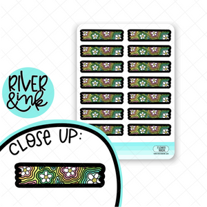 Groovy Flower Washi Strip | Hand Drawn Planner Stickers
