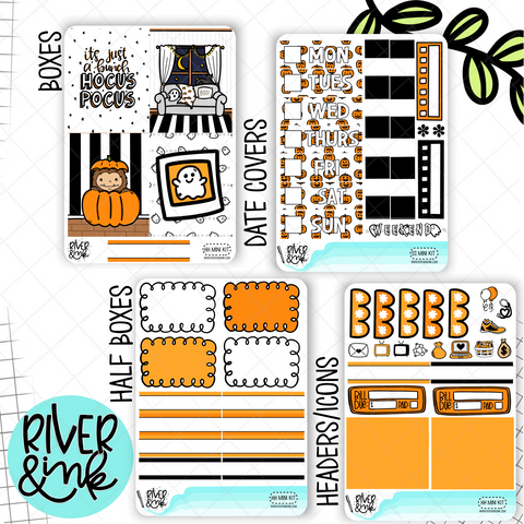Happy Haunting Halloween | Mini Weekly Planner Stickers Kit