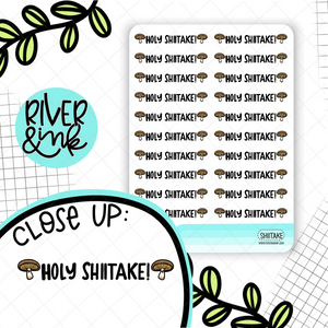 Holy Shiitake | Hand Drawn Planner Stickers