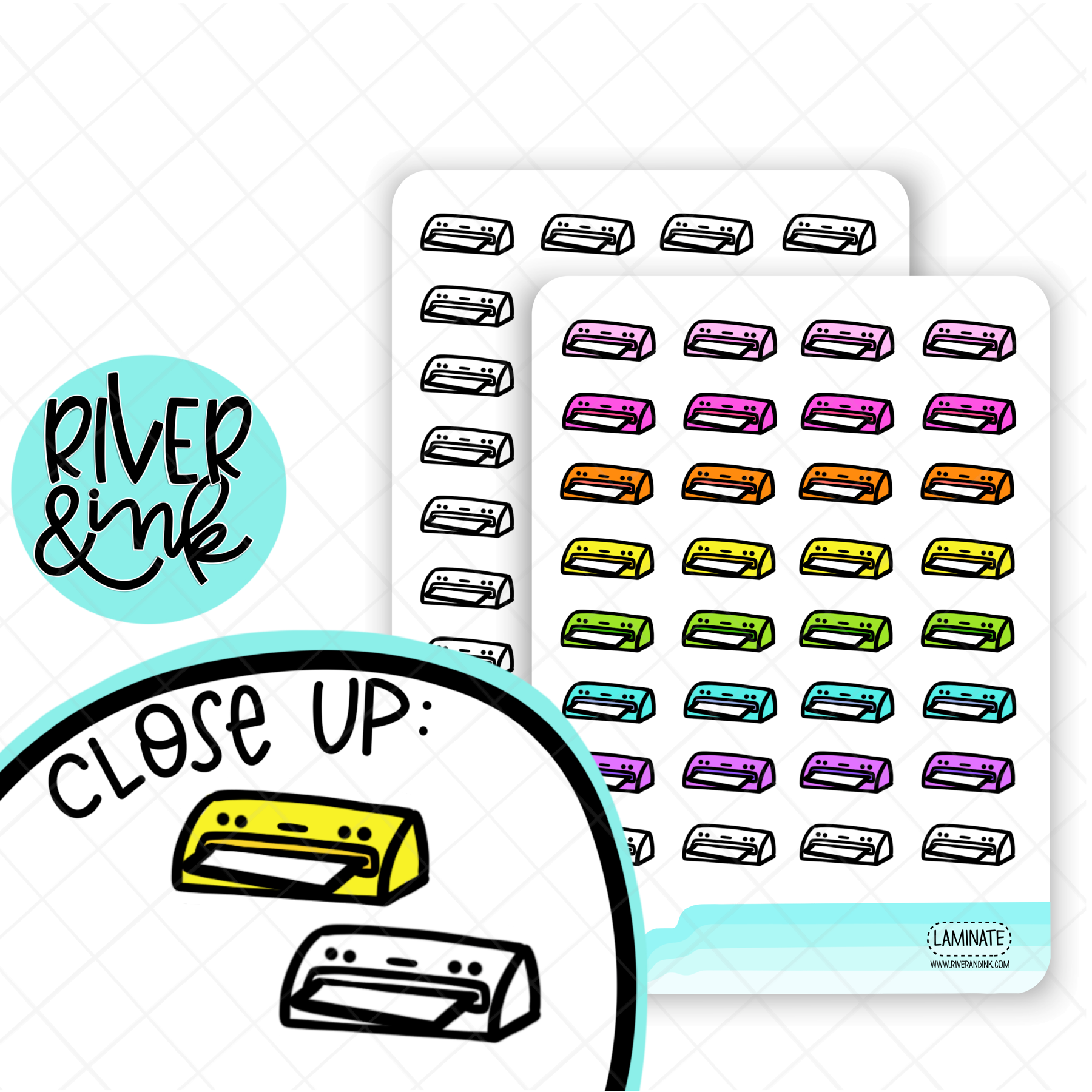 Laminator Icon | Hand Drawn Planner Stickers