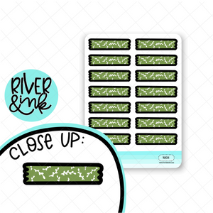 Leafy Green Washi Strip | Hand Drawn Planner Stickers