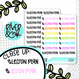 Lesson Plan | Hand Lettered Planner Stickers