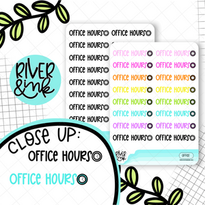 Office Hours | Hand Lettered Planner Stickers