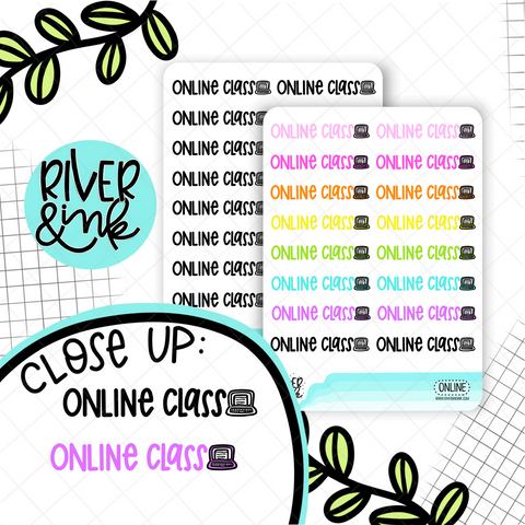Online Class | Hand Lettered Planner Stickers