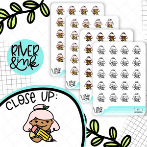 Pencil It In Planner Characters | Hand Drawn Planner Stickers