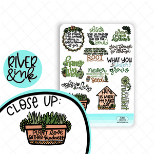 Plant Quotes | Hand Lettered Planner Stickers