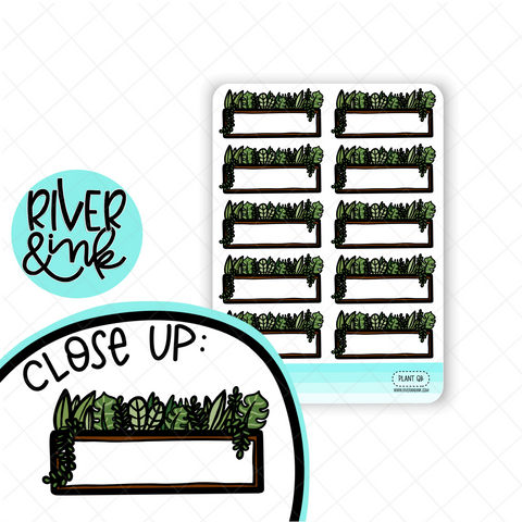 Plant Quarter Boxes | Hand Drawn Planner Stickers