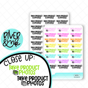 Take Product Photos | Hand Lettered Planner Stickers