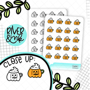 Pumpkin Cups | Hand Drawn Planner Stickers