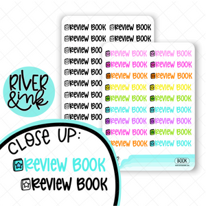 Review Book | Hand Lettered Planner Stickers