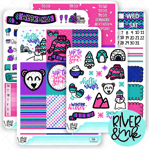 Snow Good | Weekly Vertical Planner Stickers Kit
