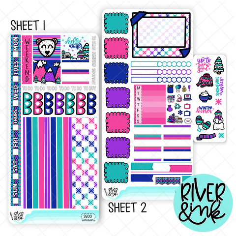 Snow Good | Hobonichi Weeks Sticker Kit Planner Stickers