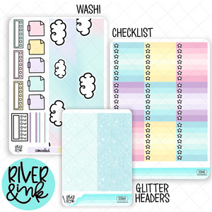 Sweet Slumber | Weekly Vertical Planner Stickers Kit Add Ons