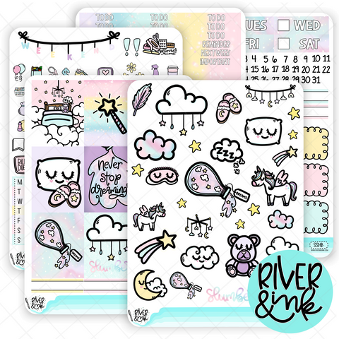 Sweet Slumber | Weekly Vertical Planner Stickers Kit
