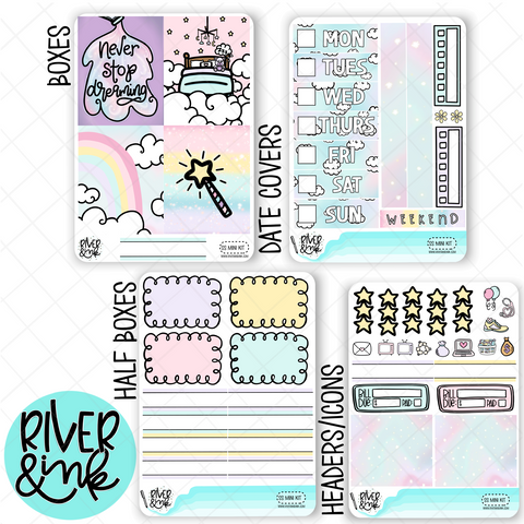 Sweet Slumber | Mini Weekly Planner Stickers Kit
