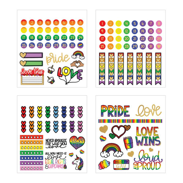 Love Is Love Mini Sticker Book | River & Ink x PHP Collab